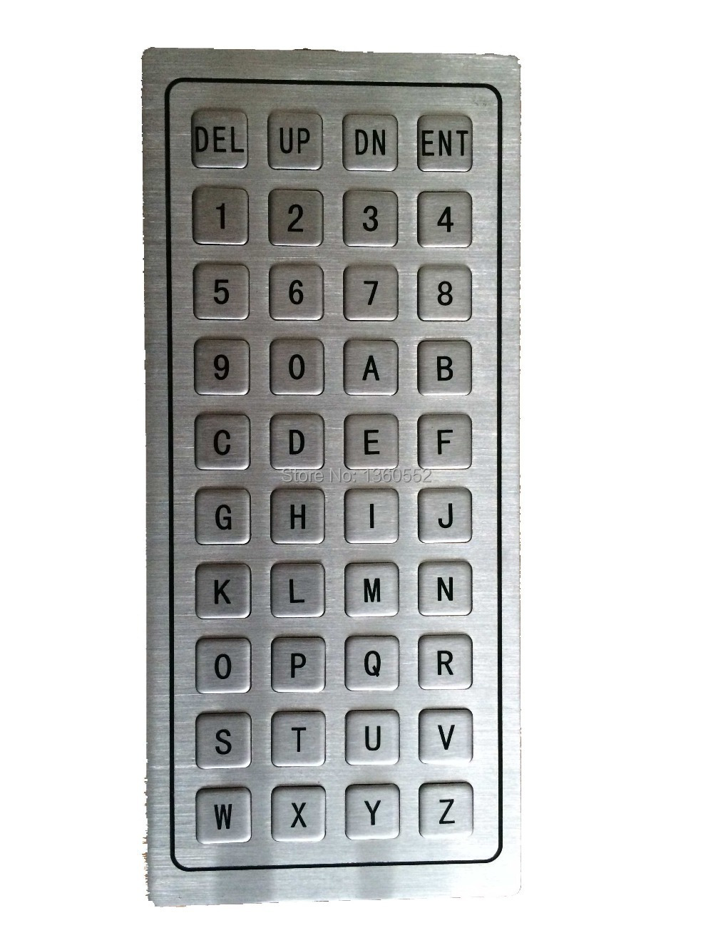 China 40 keys IP65 waterproof and vandal-proof USB or PS2 interface metal keypad/keyboard with numbers and letters on alibaba(China (Mainland))