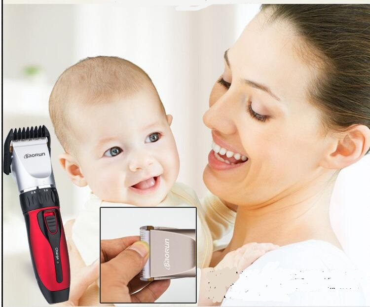 professional baby hair clipper trimmer ceramic head cutting low noise infant precision clipper kids barber children hair cutting(China (Mainland))