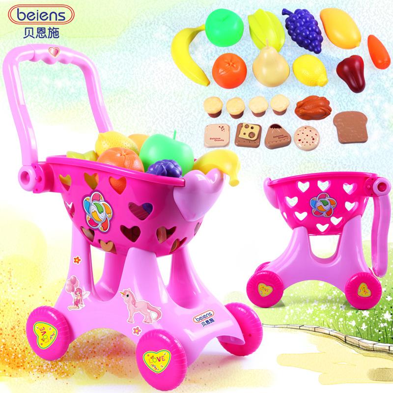 Nuevo diseño de compras en el supermercado cochecito de muñecas juguetes de los niños los juguetes del juego finge bebé juguete creativo 2016 regalo de año nuevo para los niños(China (Mainland))