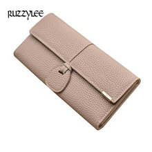 Buy New Design Leather Wallets Women Luxury Brand Purses Woman Wallet Long Hasp Female Purse Card Holder Clutch Feminina Carteira for $7.43 in AliExpress store