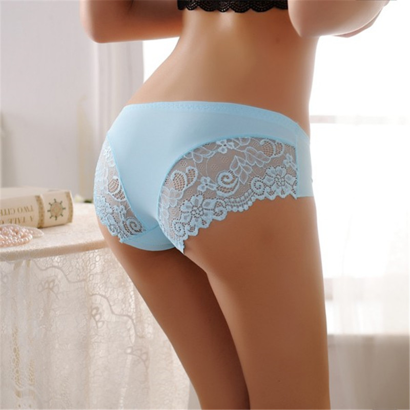 Sexy Women Lace Solid Briefs Low Waist Lingerie Seamless Underwear Panties