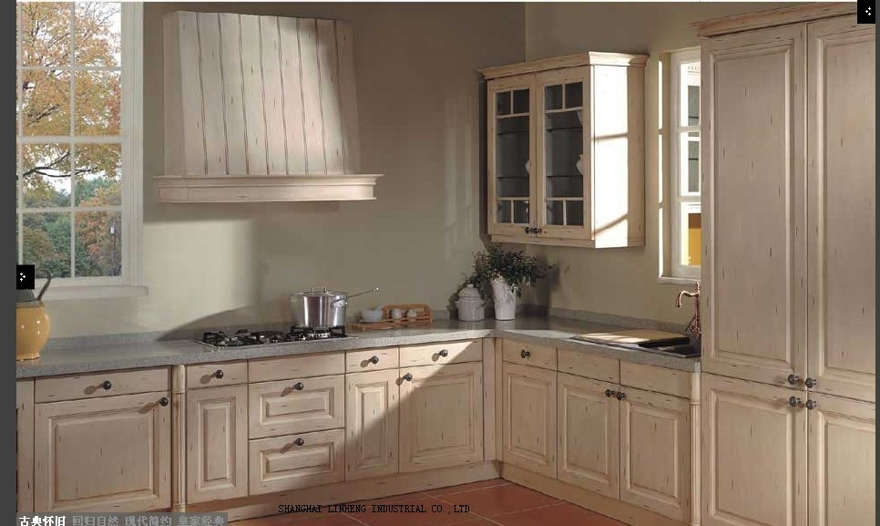 Modular wooden cheap kitchen cabinet lh sw041 in kitchen for Prefab kitchen cabinets