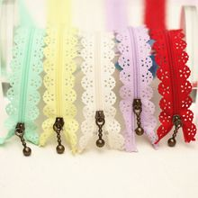 50 Pcs/lot wholesale 25cm Closed End Lace Zippers for sewing clothes DIY Handcraft jacket home Bags Garment Textile Accessory(China (Mainland))