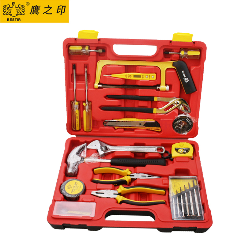 Household Hand Tools Set 21PCS High Quality Multi Tool kits Saw Screwdriver Wrench Pliers Hammer Knife in One Case 92103 <br><br>Aliexpress