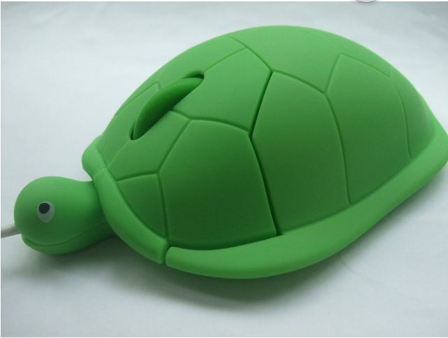 RED USB 3D Optical Cute Turtle Mouse Mice Laptop PC Comfort Hand WIN7 - macall_365 store