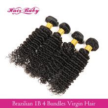 Brazillian Deep Wave 7A Grade 4 Pcs Lot Queen Hair Products Brazilian Deep Wave 4 Bundles Her Extension Hair Company