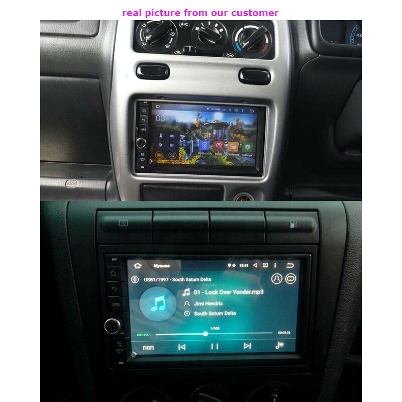 2 din Android 5.1.1 car radio Quad Core 7 inch 1024*600 HD screen GPS navigation universal head unit car stereo autoaudio player