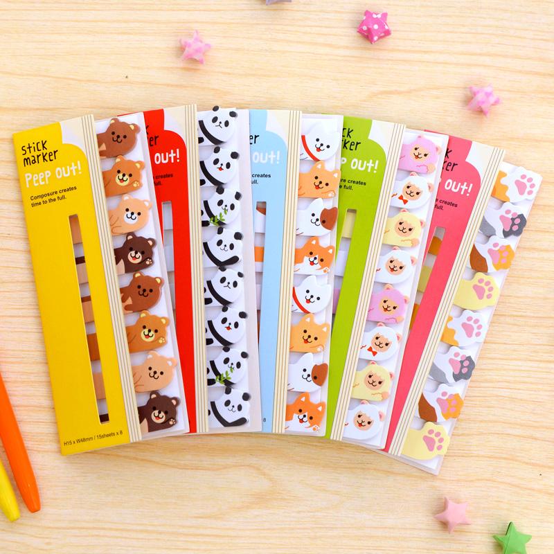 Mini Cute Kawaii Cartoon Animal sticky notes Memo Pads Paper Kawaii Animal Stickers Notepads Sticky korean papelaria(China (Mainland))
