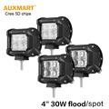 Auxmart 4pcs 5D 4 30W LED light bar Spot Flood beam offroad driving work light for