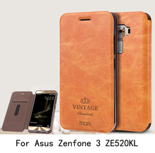 For Asus Zenfone 3 ZE520KL Case Cover Luxury Flip PU Leather Wallet Stand Phone Case Cover For Asus Zenfone 3 ZE520KL(China (Mainland))