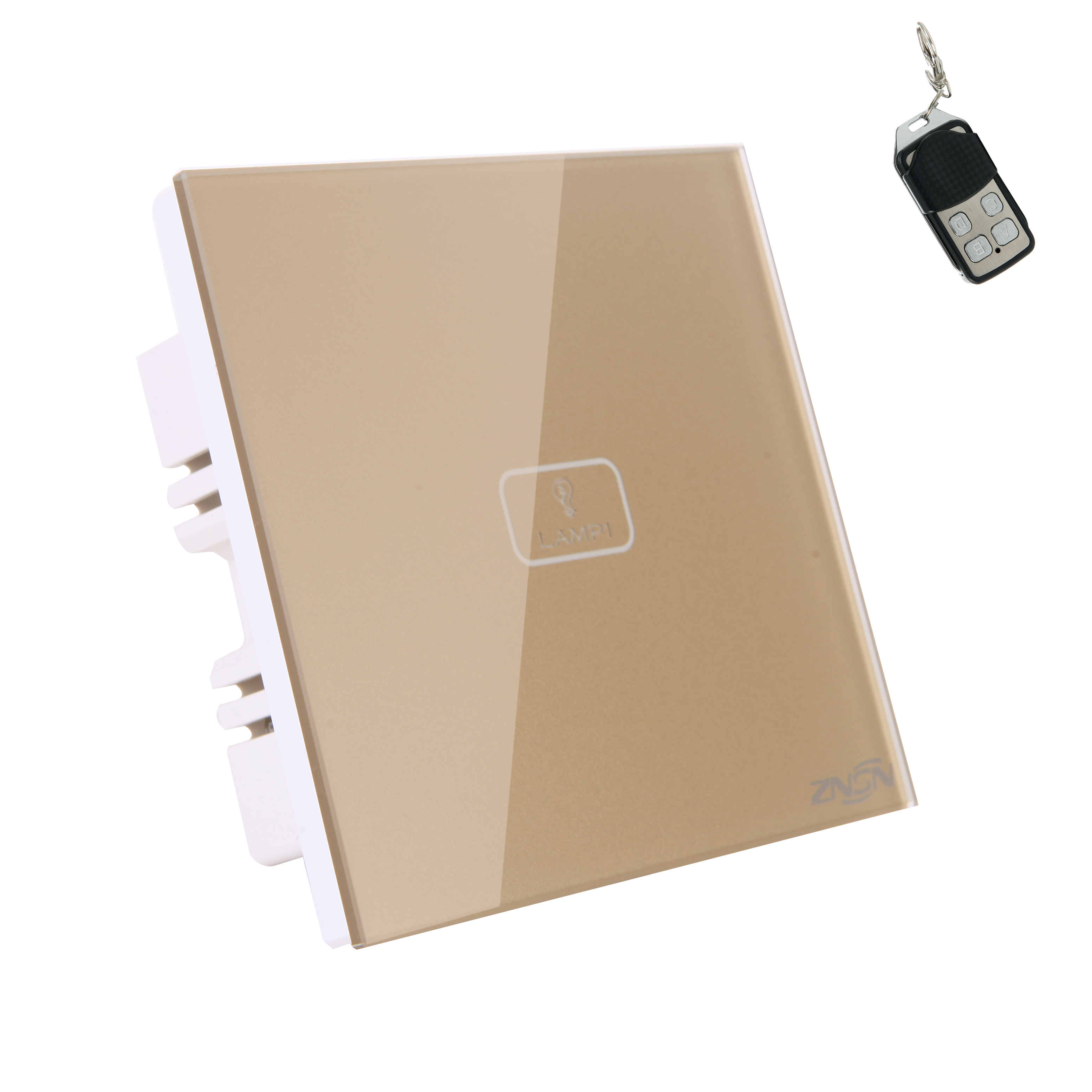 1 Gang 1 Way 220V Luxury Champagne Crystal Glass Panel Led Lamp 315MHZ 433MHZ rf Touch Wall Light Remote Control Switch(China (Mainland))