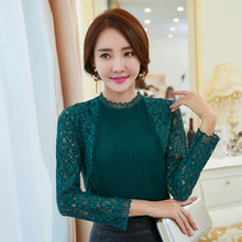 Buy 2017 New Women Casual Basic Autumn Winter Lace Chiffon Blouse patchwork Stripe Top Shirt OL blusas Work Wear Plus Size for $11.30 in AliExpress store