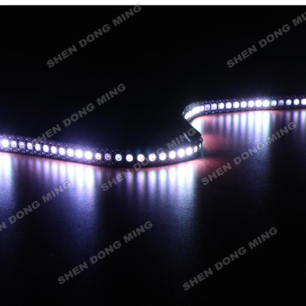 white/black PCB WS2812 led pixel strip changeable color RGB digital led strip DC5V flexible led 50M 144led/m 144IC/m built-in IC(China (Mainland))