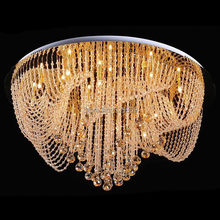 Free Shipping Luxury Modern Living Room Crystal Chandelier For Ceiling 110-240v Large Lustres Cristal Light For Room (China (Mainland))