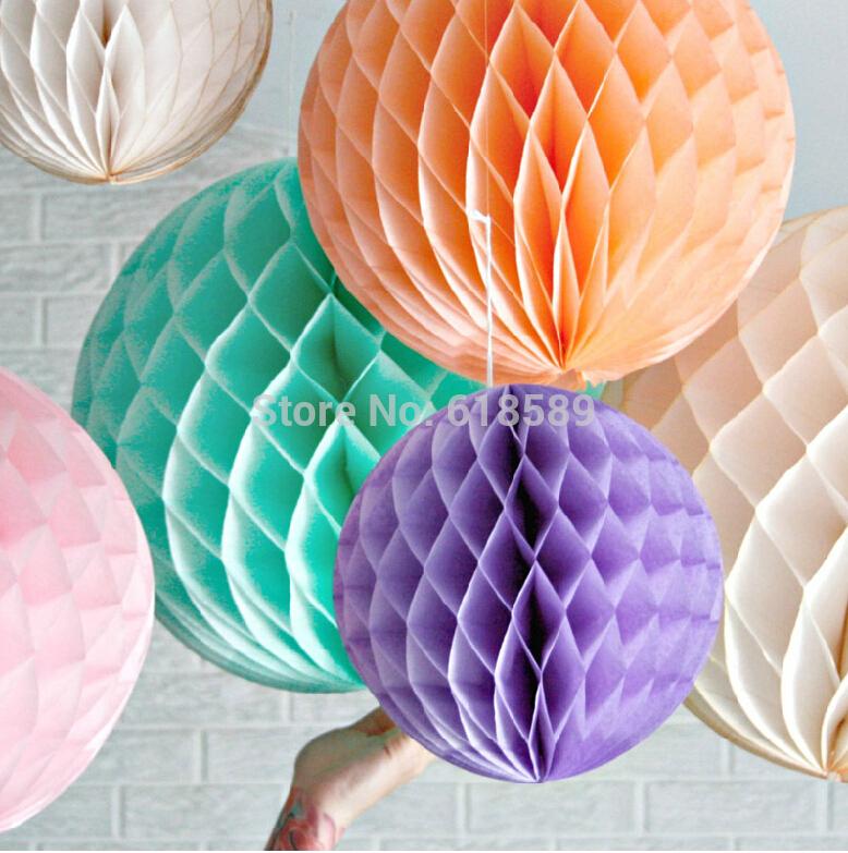 6 inch 8 10 Mix Size Decorative Flowers Paper Lantern Honeycomb Balls Wedding , Kids Birthday Decoratio - WISHMADE Design store
