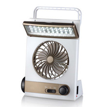 New Mini Multifunction Solar LED Lamp Protable and Fan with Solar Panel Battery USB for Camping Solar Outdoor Light Summer Fan(China (Mainland))