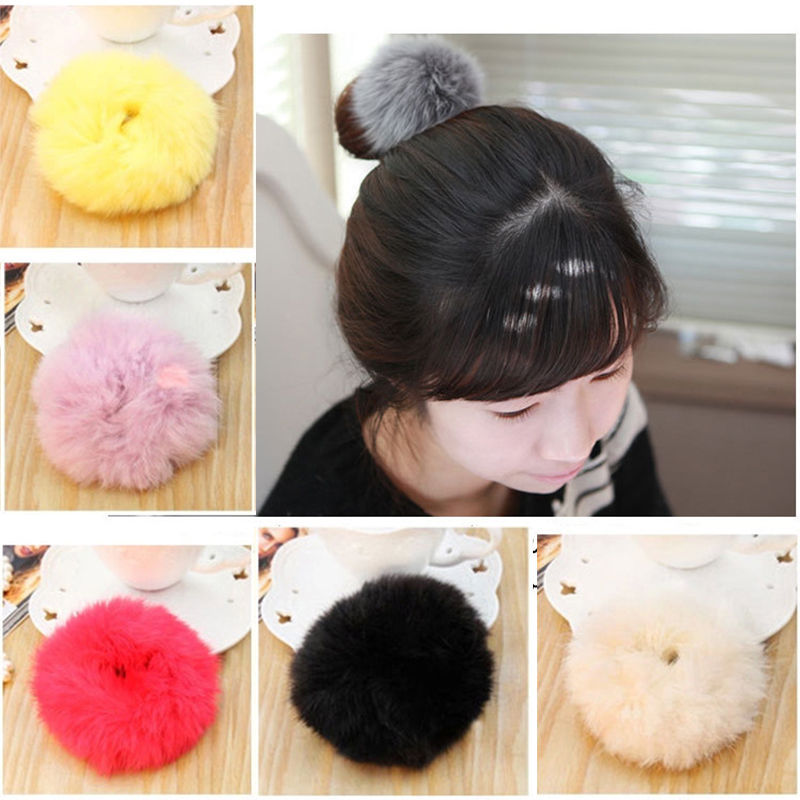 1 PC Imitate Rabbit Fur Hair Band Hair Bobble Hair Accessories Fluffy Mixed Cute Style For Women Girl Gift(China (Mainland))