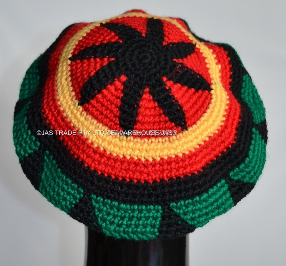 Knitted Fingerless Gloves Free Pattern : DHL Free Shipping Handmade Jamaican Rasta hat Jameican hat tams fancy dress c...