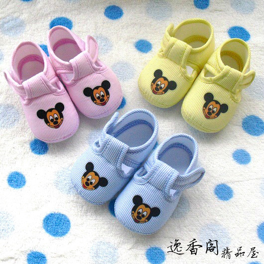 2013 spring and summer children shoes baby soft sole shoes slip-resistant MICKEY MOUSE child toddler shoes
