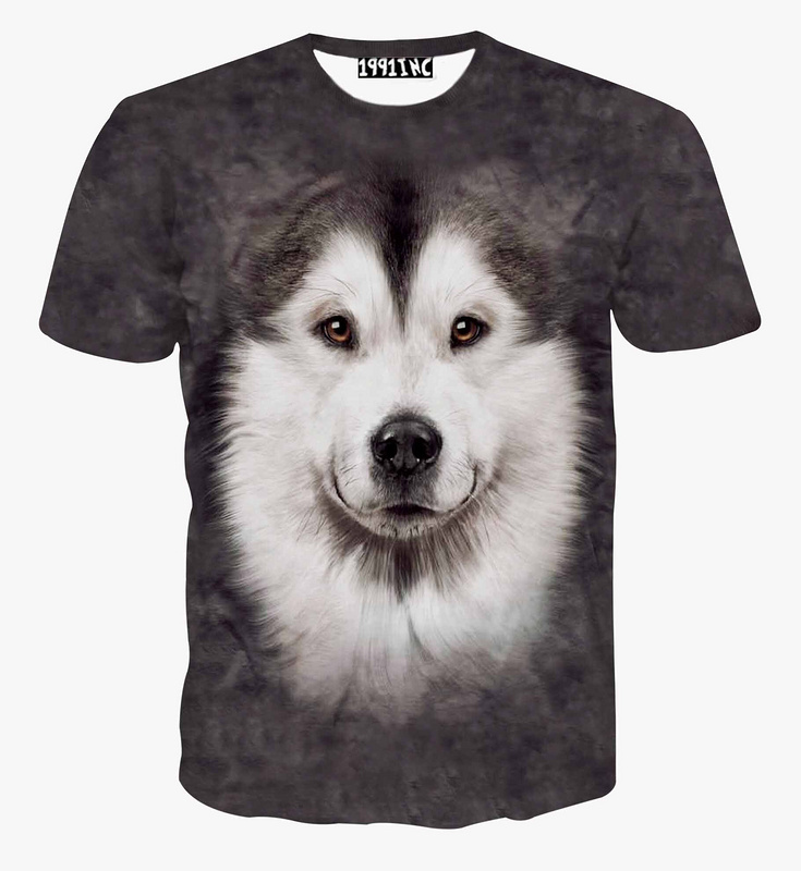 Alisister Summer Man/Women wolf t shirt 3d animal T-Shirt Casual funny 3D t shirt unisex crewneck short sleeve t shirt top(China (Mainland))
