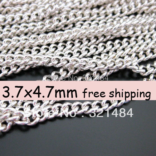 3.7x4.7mm 100meter (10meter/pack 10pack) Silver Plated Jewelry Ball Bead Link Chain Findings Accessories<br><br>Aliexpress