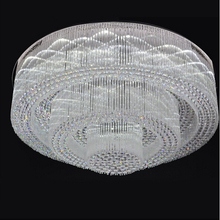 new design flush mount large crystal chandeliers modern cristal light  foyer chandeliers LED luminaria(China (Mainland))
