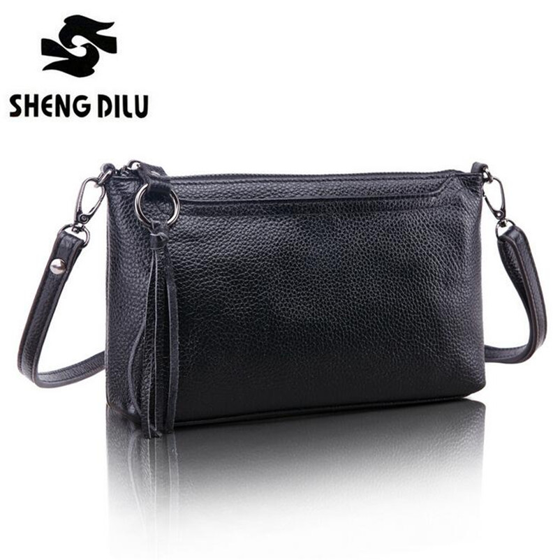 First Layer Cowhide Vintage Messenger Bags Women Real Genuine Leather Small Clutch 2015 Brand Designers Summer Shoulder Bag