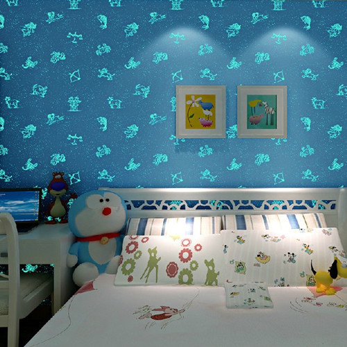 Buy Glow In The Dark PInk Blue Wallpaper