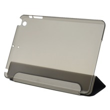"New Ultra Slim Tri-Fold PU Leather Case with Crystal Hard Back Smart Stand Case Cover for iPad mini 1 2 3 7.9"" tablet Flip Cover(China (Mainland))"