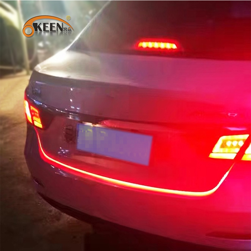 OKEEN DRL LEDs Daytime Running Light Strip trunk light with Side Turn Signals Rear lights Car Braking light For BMW car-styling(China (Mainland))