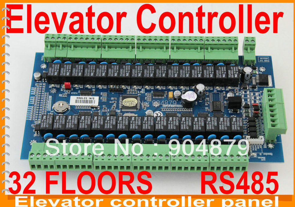 2012 yearversion 32 Floors RS485 Elevator Controller Panel Board System Can controls 32 floor Lift management with lift software(China (Mainland))