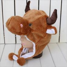Free shipping Stuffed cartoon animal hat Ear cap Holiday gifts