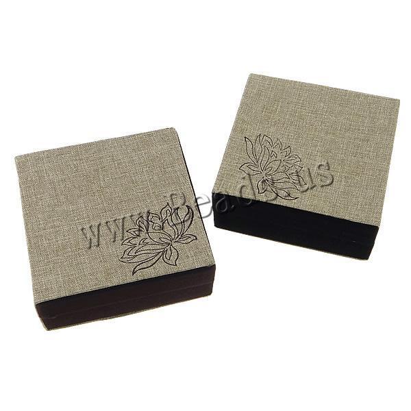 Free shipping! Hemp Bracelet Box Wedding Gift Packaging Box for Bracelet with Velveteen &amp; Plastic with flower pattern<br><br>Aliexpress