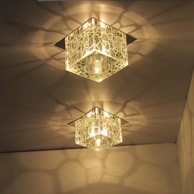 """Ceiling Mounted Light Fixtures Aliexpress.com: Acheter Moderne 5 """" carré Cube d'eau ..."""