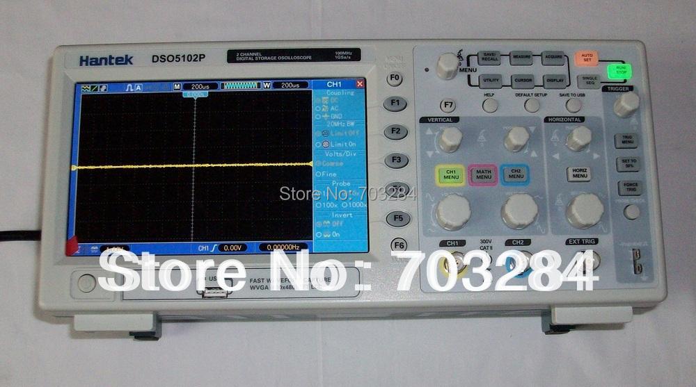 Hantek Dso5102p Digital Storage Oscilloscope 100mhz 2channels 1gsa/s 7'' Tft Lcd Better Than Ads1102cal+(China (Mainland))