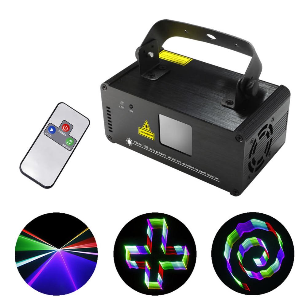 New 3D Effect 8 CH DMX Mini IR Remote 400mW RGB Laser Scanner Lights DJ Party Disco Show Projector Led Stage Lighting TDM-RGB400(China (Mainland))