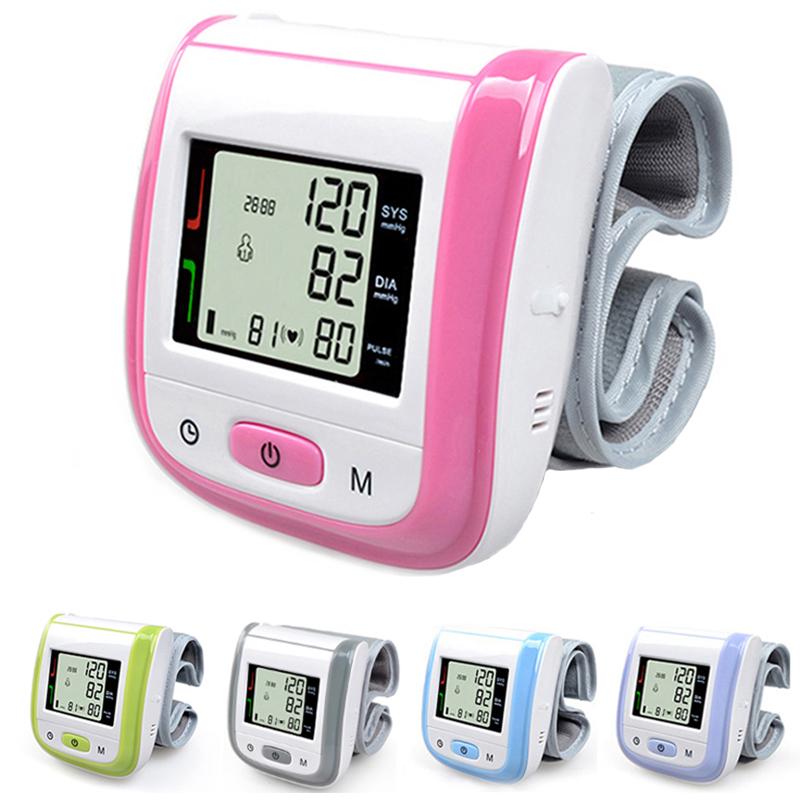 Health Care Automatic Wrist Blood Pressure Monitor Digital LCD Wrist Cuff Blood Pressure Meter Esfingomanometro Tonometer(China (Mainland))