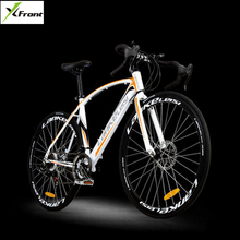 Buy New brand 700CC carbon steel frame 21/27 speed break wind disc brake road bike cycling outdoor sport bicicleta racing bicycle for $432.00 in AliExpress store