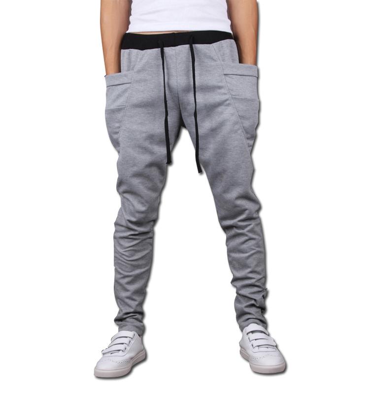 sarouel baggy tapered bandana pants hip hop dance harem sweatpants drop crotch pants men parkour sport track tapered trousers(China (Mainland))
