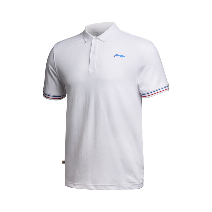 Li-Ning Original Brand Mens (ATDry Tech) Quick Dry White Color Tennis Polo Shirts High Quality Breathable Top Tees Authentic(China (Mainland))
