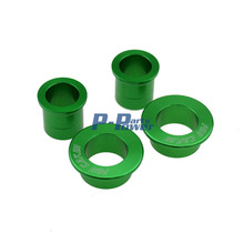 GREEN CNC Billet Aluminum Front & Rear Wheel Hub Spacers Fit Kawasaki KX125 KX250 KXF250 KXF450 Motorcycle Dirt Bike Off Road(China (Mainland))