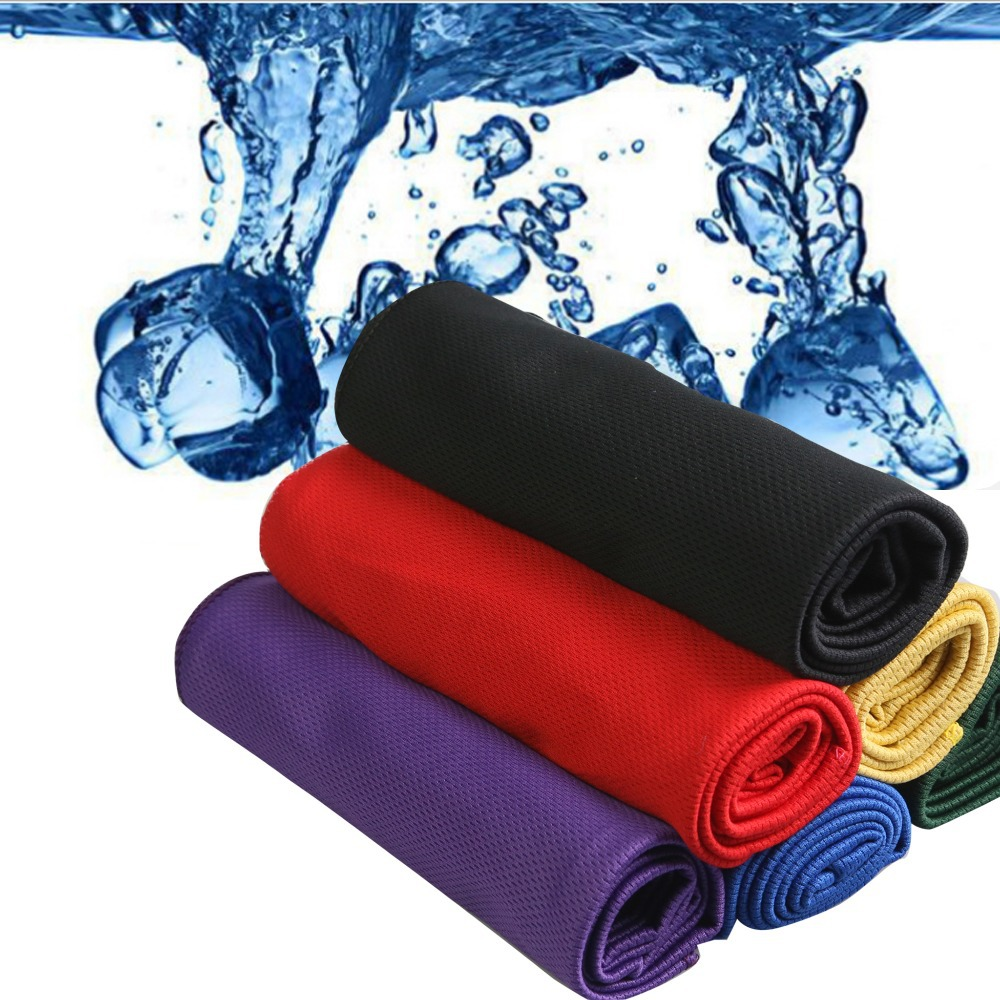 Newest Creative Cold Towel Exercise Sweat Summer Ice Towel 35*90cm Sports Ice Cool Towel PVA Hypothermia Cooling Towel(China (Mainland))
