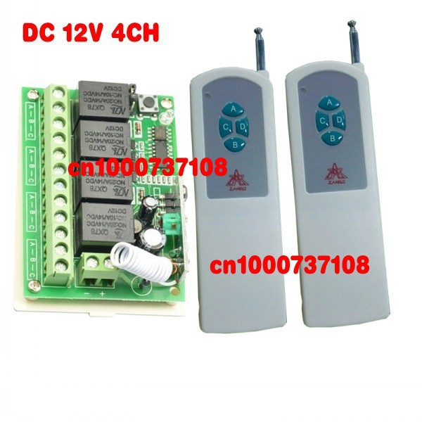 12 volt remote control switch remote control rf wireless LED rf controller wireless transmitter and the receiver(China (Mainland))