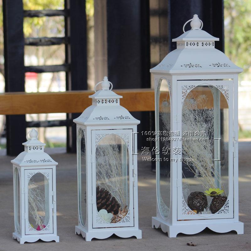 Seckill European iron lantern lantern / wedding wedding room decoration stage road / garden Home Furnishing candlestick(China (Mainland))