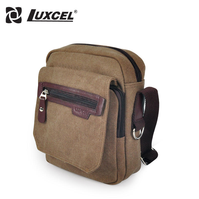 Luxcel 2016 Vintage Canvas Messenger Bag Crossbody bags Single Shoulder men Sports single strap sling bag(China (Mainland))