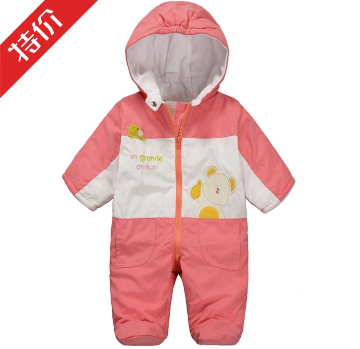 Newborn baby girl clothes baby clothing autumn and winter outerwear baby cotton-padded jacket thickening wadded jacket romper