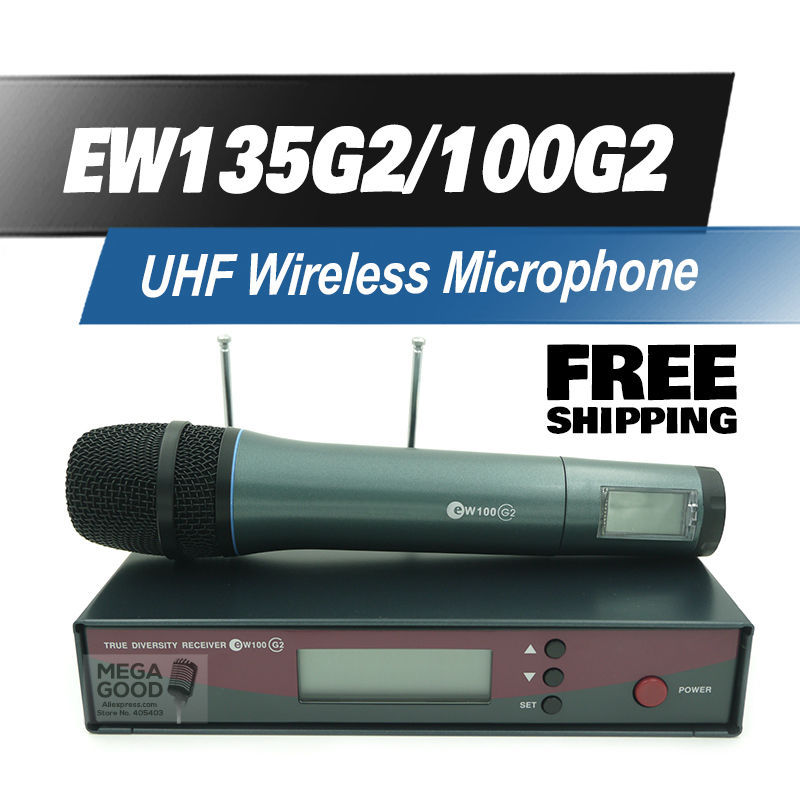 Free Shipping! EW135G2 Professional UHF Wireless Microphone EW 135G2 Wireless System EW100G2 135 G2 For Vocals Speech Karaoke(China (Mainland))