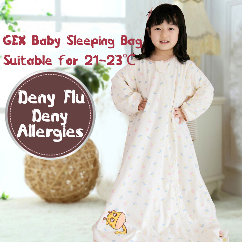 (USA-GEX) 3-4.5Y (Spring/Autumn) Infant Baby Sleeping Bag Sleep Sack Grobag Swaddle Sleeper Sleepwear Gown Quilt(China (Mainland))