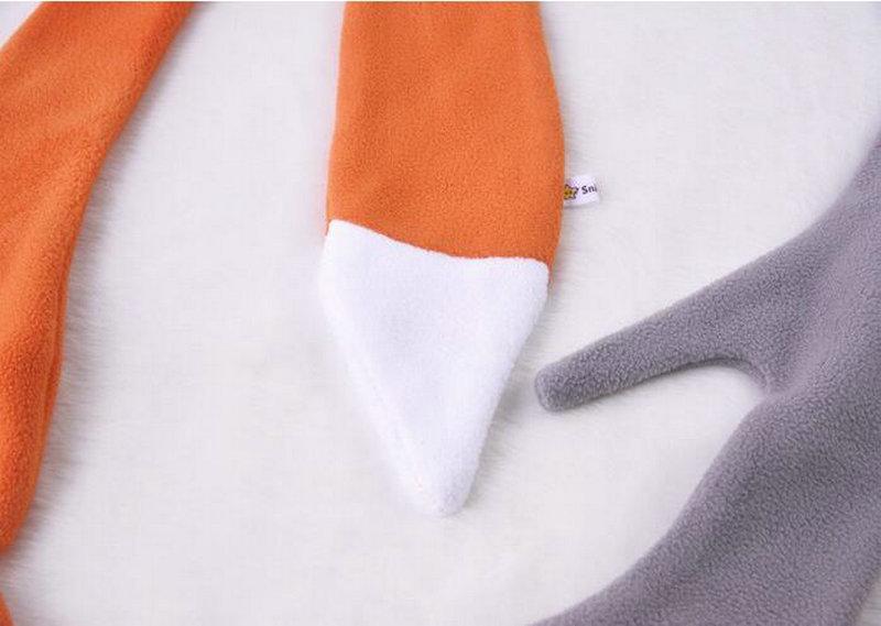Cartoon Fox Dog Designer Scarf Kids Boy Girl Animal Scarves Fleece Winter Scarf Fashion Neck Accessories KD408