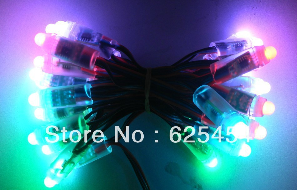 Waterproof DC5V WS2801 pixel module LED Colorful String Smart RGB Pixel Direct Light 5 - Pleasant Foreign Trade store